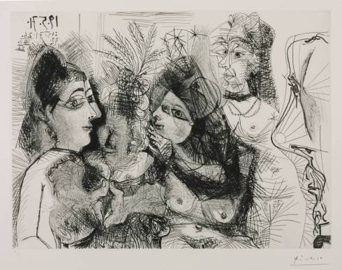 Etching: 19, 21, 23, 24, 26, 30, 31 May 1971, 2 June 1971 (L.130) 1971 by Pablo Picasso 1881-1973
