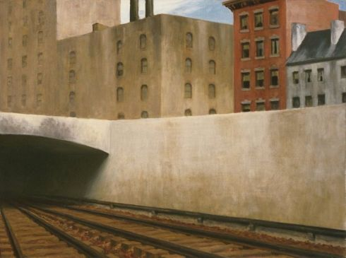hopper-approaching-a-city-1946