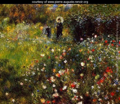 Summer-Landscape-Aka-Woman-With-A-Parasol-In-A-Garden