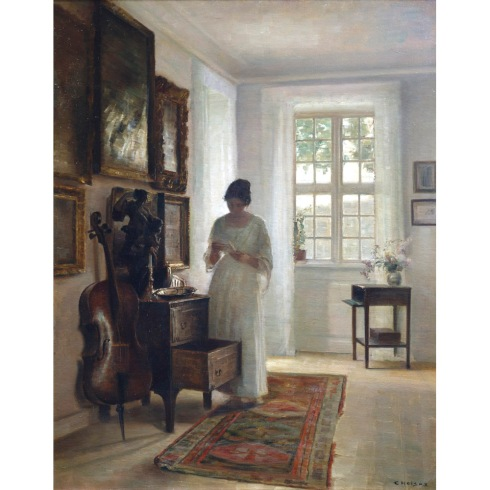 The Artist's Wife in a White Interior